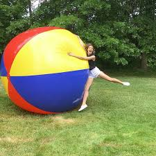 Beach ball on beach Giant In Real Life Bigmouth Inc Gigantic 10 Foot Inflatable Beach Ball Bigmouth Inc