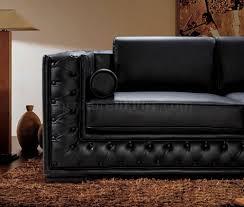 Italian Leather Living Room Sets Dublin Bt0697 Vig Top Grain Italian Leather Living Room Set Black