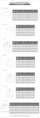 Psycho Bunny Size Chart Polo Shirt Size Guide Toffee Art