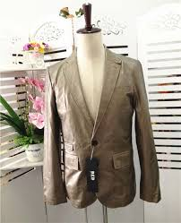 2018 mens suit jacket genuine sheepskin leather male casual coat spring autumn fall notched neck
