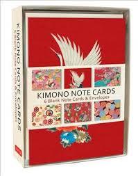 Books Kinokuniya Kimono Note Cards 6 Blank Note Cards