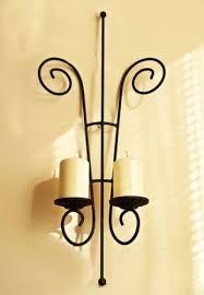 sconce papillon candlestick metal 60cm candelabra candle holder