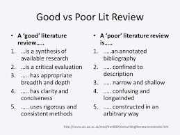 Lit Review Writing A Literature Review For A Research Paper