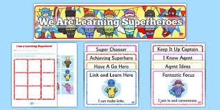 Characteristics Of A Superhero Ready Made Superhero Themed Characteristics Of Effective Learning