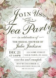 Tea Invitations Printable Bridal Shower Tea Party Invitation Template Vintage Rose Shower