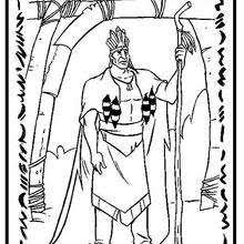 Chief Powhatan Coloring Pages Hellokidscom