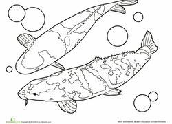 Are your children fascinated by all the amazing, colorful fish in the ocean? Fish Coloring Pages Printables Education Com