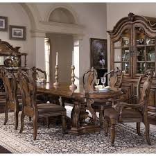 pulaski san mateo 7 piece dining set in brown finish