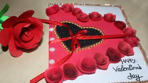 Valentines Greeting Card Making Diy Love Greeting Card Easy Greeting Cards Designs Handmade