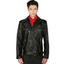 xcoser the walking dead negan cosplay costume deluxe leather jacket and scarf s