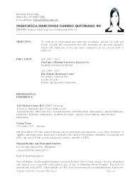 Sample Of Objective In A Resume Registered Nurse Resume Objectives