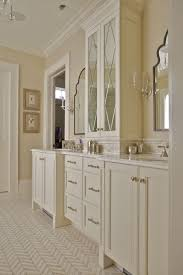 modern bathroom cabinet doors. Custom Built Master Bathroom Vanity Featuring His And Her Sinks, Cut Glass Upper Cabinet Doors With Stile Rail Design Bead Detailing. Modern I