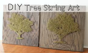 diy tree string art tutorial
