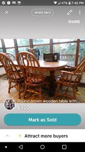 richardson brothers oak table with six chairs and buffet cabitnent with drawers for in sparks nv offerup