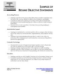 Elegant Resume Examples Templates Basic Objective Statement Customer ...
