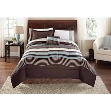 mainstays urban stripe bed in a bag coordinated bedding set com