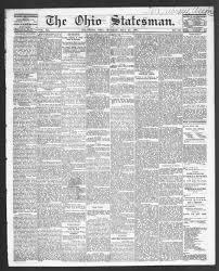 Ohio Statesman Columbus Ohio 1870 1871 05 22 Page 1