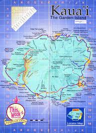 maps update  kauai tourist map – kauai island hawaii