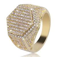 whole iced out jewelry china mens ring vine hip hop jewelry zircon iced out
