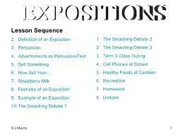 features of persuasive writing features of persuasive writing expositions <ul><li>lesson sequence < li>< ul