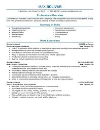Sample Administrative Assistant Resume Best Grants Administrative