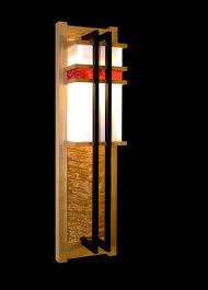Frank Lloyd Wright Lighting Collection Frank Lloyd Wright Inspired Lighting One Wooden Lamp