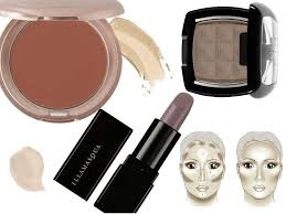 contour for pale skin tones using grey taupe and lilac colours