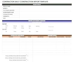 Employee Daily Report Template Construction Daily Work Report