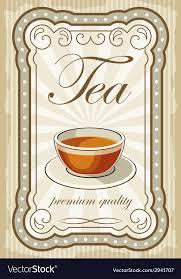 vintage tea cup vector. Contemporary Vector Vintage Tea Posters Vector Image And Tea Cup Vector T