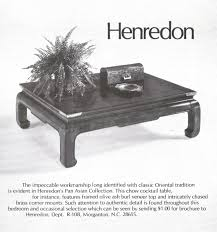 henredon pan asian collection 1978 ad picture