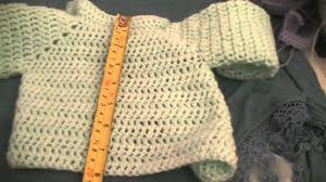 Sweater Size Chart For Babies Measurements Of My Newborn Crochet Baby Cardigan