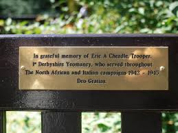 bench memorial plaque westgate gardens canterbury england by rayyaro