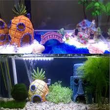 Small Fish Bowl Decorations Resin Aquarium Spongebob Decoration Pineapple House Fish Tank 19