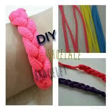 diy shoelace bracelet