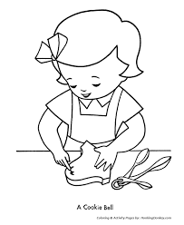 Small Picture Christmas Cookies Coloring Pages Christmas Bell Shaped Cookie