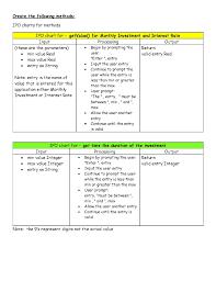 Assignment 4 Investment Calculator Programming Des