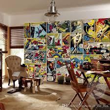 Marvel Comics Wallpaper <b>Custom 3d Wall</b> Murals Captain America ...