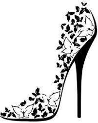 butterfly high heel shoe mural vinyl wall art black  on shoe wall art high heels with spectacular deal on butterfly high heel shoe mural vinyl wall art