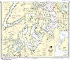 Noaa Nautical Chart 18448 Puget Sound Southern Part
