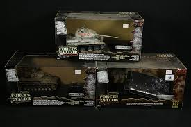 unimax toys. lot 18 - three unimax toys ltd, forces of valor army tanks, russian t34 a