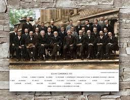 Zero.o Scientist Solvay Conference Poster Standard Size 18 x 24 Inch  Scientific Solvay Conference Classic Poster: Amazon.de: Alle Produkte