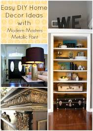 easy diy home decor projects with metallic paint hometalk