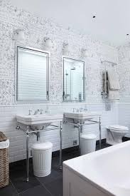 london schumacher grasscloth wallpaper bathroom contemporary with kitchen and bathroom designers hide garbage cans