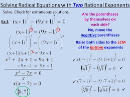 12 solving radical equations