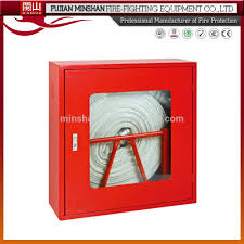 Fire Equipment Cabinet Stainless Steel Fire Hose Reel Cabinet Wall Mount Fire Hose Reel