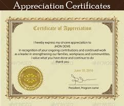 Printable Appreciation Certificates Printable Certificate Of Appreciation Template Certificate Of