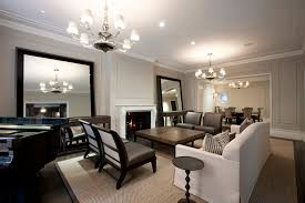 living room area brown leather accent