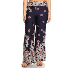 Flare Pants Pattern Awesome Women's Abstract Floral Pattern Flare Pants Free Shipping On