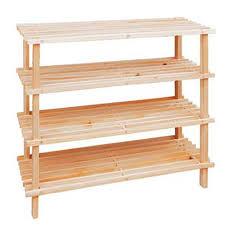 4 tier wooden shoe rack storage shelves