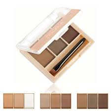 3 colors professional eye brow makeup eyebrow powder eyebrow wax palette brush waterproof eyebrow powder make up palette set kit